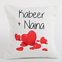 Couple Love Forever Personalized Cushion: Send Personalised Gifts to USA