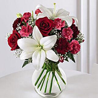 Enduring Romance Bouquet: Send Anniversary Flowers to USA