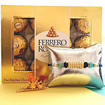 Ferrero Rocher With Designer Rakhi: Send Rakhi to Jersey