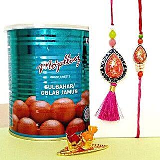 Gulab Jamun And Lumba Rakhi Set: Rakhi to Sunnyvale