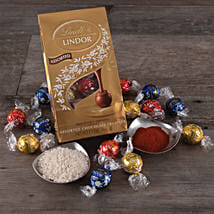 Lindor Chocolates With Roli And Chawal: Gift Basket Delivery in USA