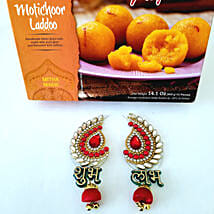 Moti Choor Ladoo with Designer Shubh Labh: Diwali Gift Delivery in USA