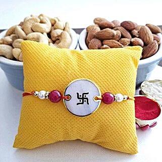 Pearl Rakhi With Almonds: Rakhi With Dryfruits USA