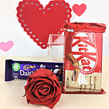 Red Forever Rose And Chocolates: Send Flowers to USA