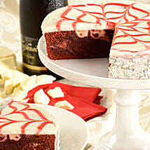 Red Velvet Brownie Cake: Christmas Gift Delivery in USA