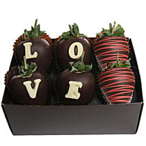 Strawberry Dipped In Belgian Chocolate: Send Chocolates to USA