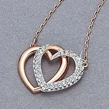 Swarovski Hearts Pendant: Send Valentine Day Gifts to Ontario