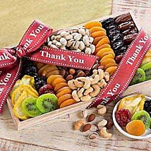 Thank You - Dried Fruit and Nut Collection: Dried Fruit Gift Baskets to USA